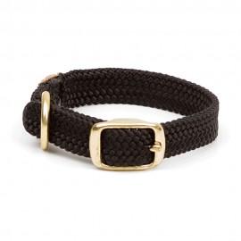 """Collar c/Broche Dorado 1"""" x 21"""" - Negro"""